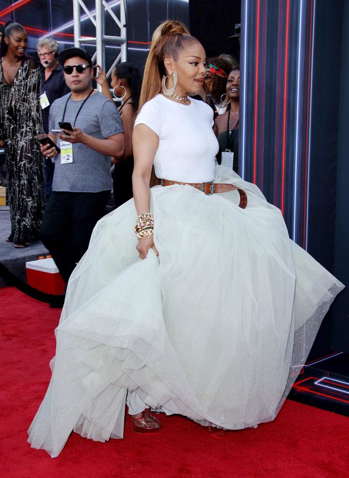 Janet Jackson, billboard music awards 2018, red carpet