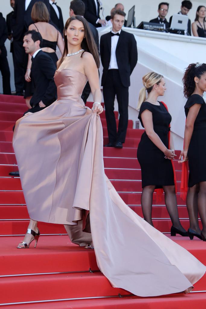 bella hadid, cannes film festival, red carpet, dior