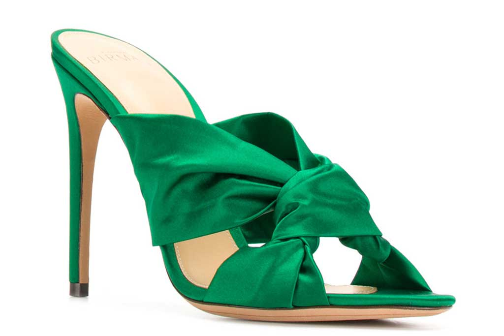 Alexander Birman green sandals