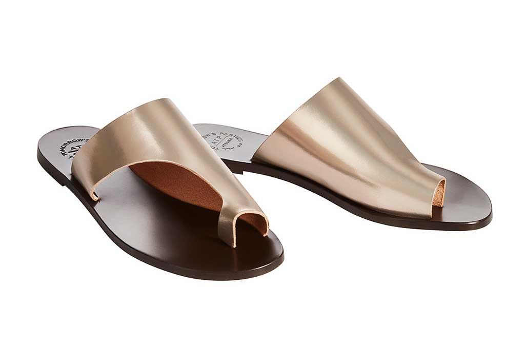 ATP gold sandals