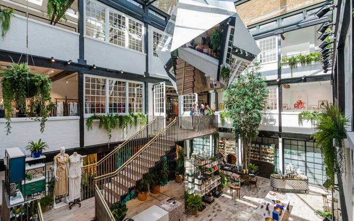 The courtyard at The Shop at Bluebird, Covent Garden