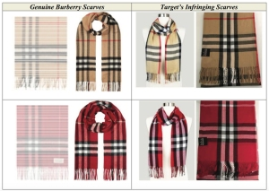 Target's alleged counterfeit Burberry scarves