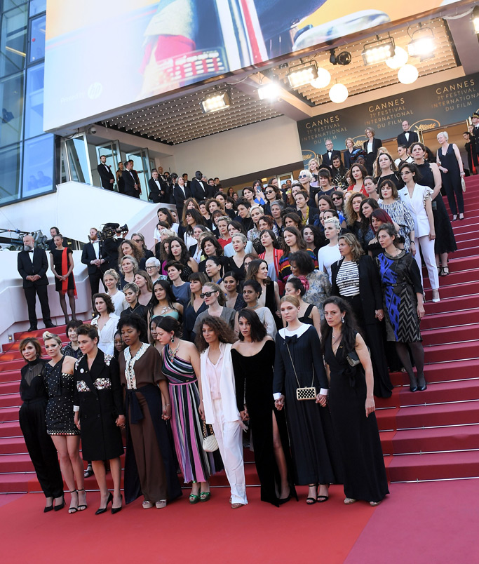 women, cannes film festival, protest