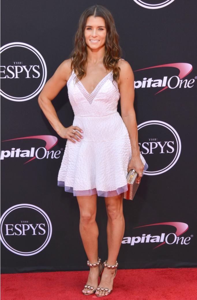 Danica Patrick wearing Azzedine Alaïa at the 2017 ESPY Awards