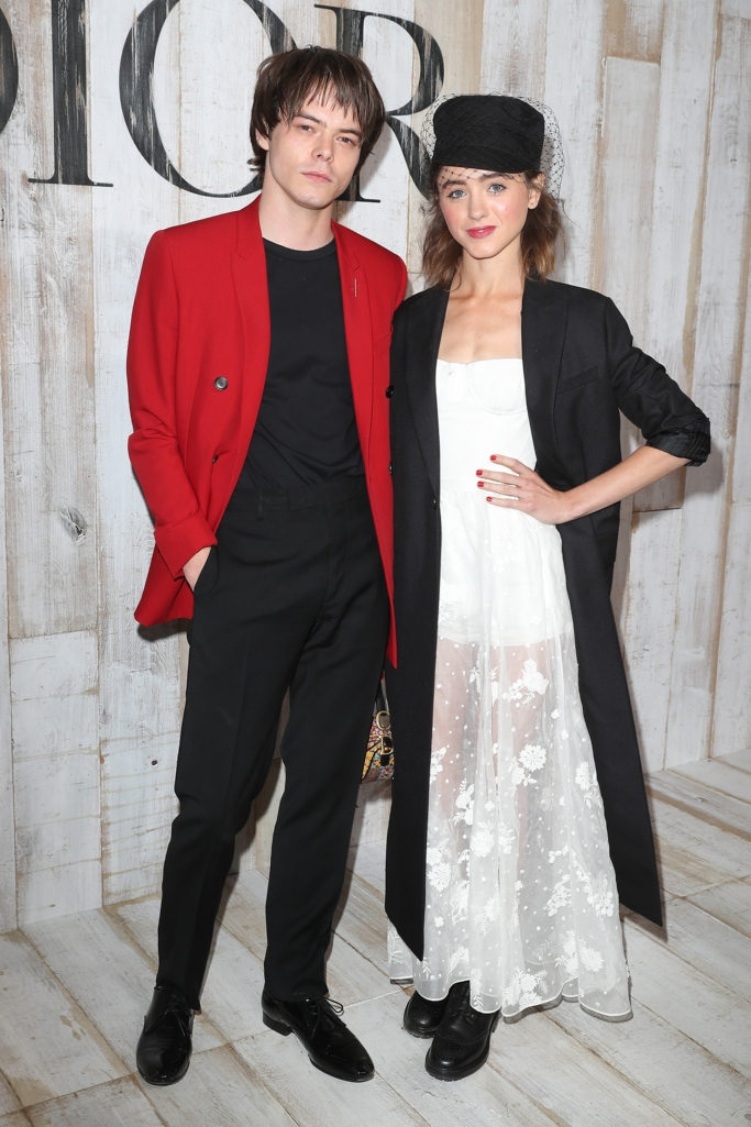 Charlie Heaton and Natalia Dyer at the Dior Cruise 2018 show