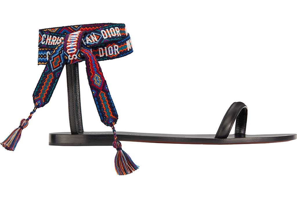 Christian Dior exclusive Mykonos capsule collection sandal.