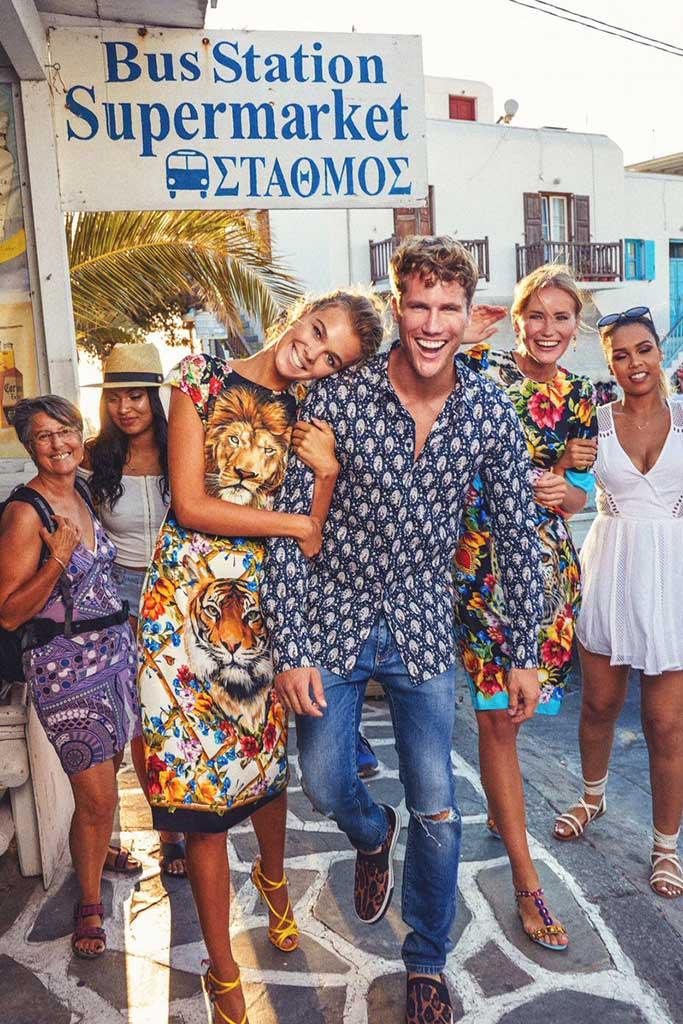 Dolce & Gabbana spring 2018 campaign shot in Mykonos.