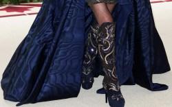 Donatella Versace Met Gala 2018 Boots