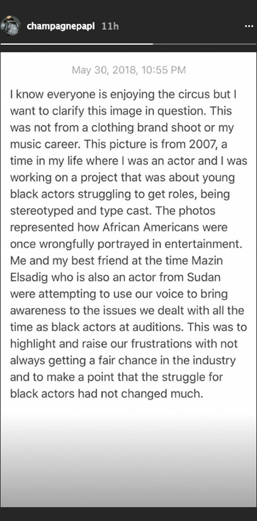 Drake Blackface Instagram Pusha T
