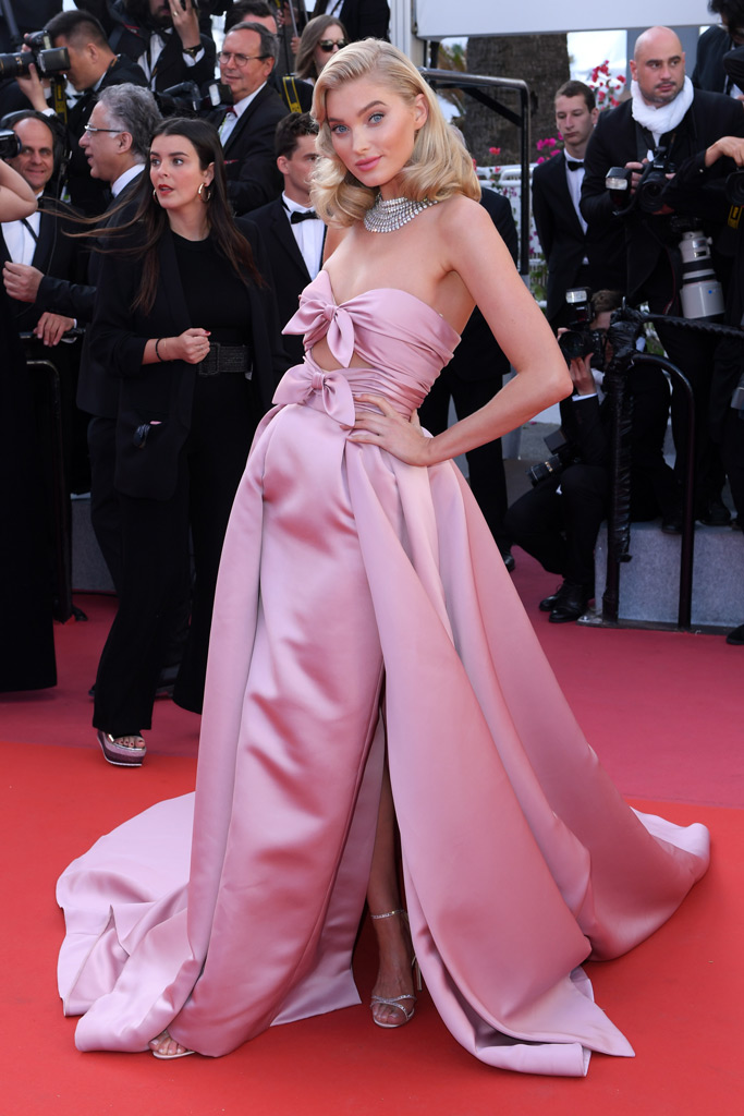 elsa hosk, victoria's secret angel, cannes film festival, red carpet, celebrity style, old hollywood
