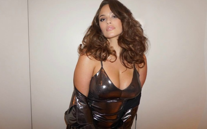 Ashley Graham gives a closeup of her Met Gala pre-party look on social media.