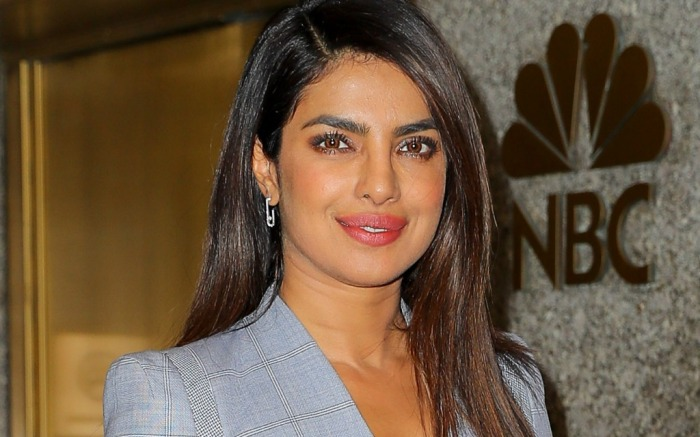 Priyanka Chopra spotted following TV show appearance at NBC studios in New York.