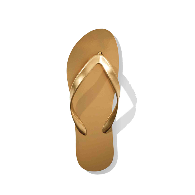 Old Navy golden flip flop