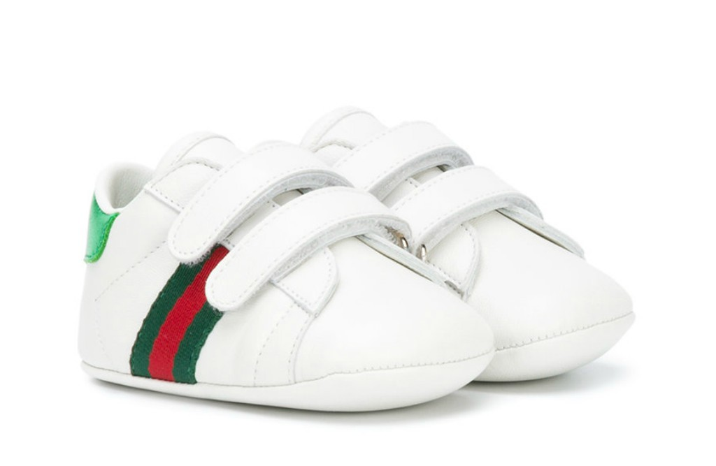 gucci baby leather sneakers