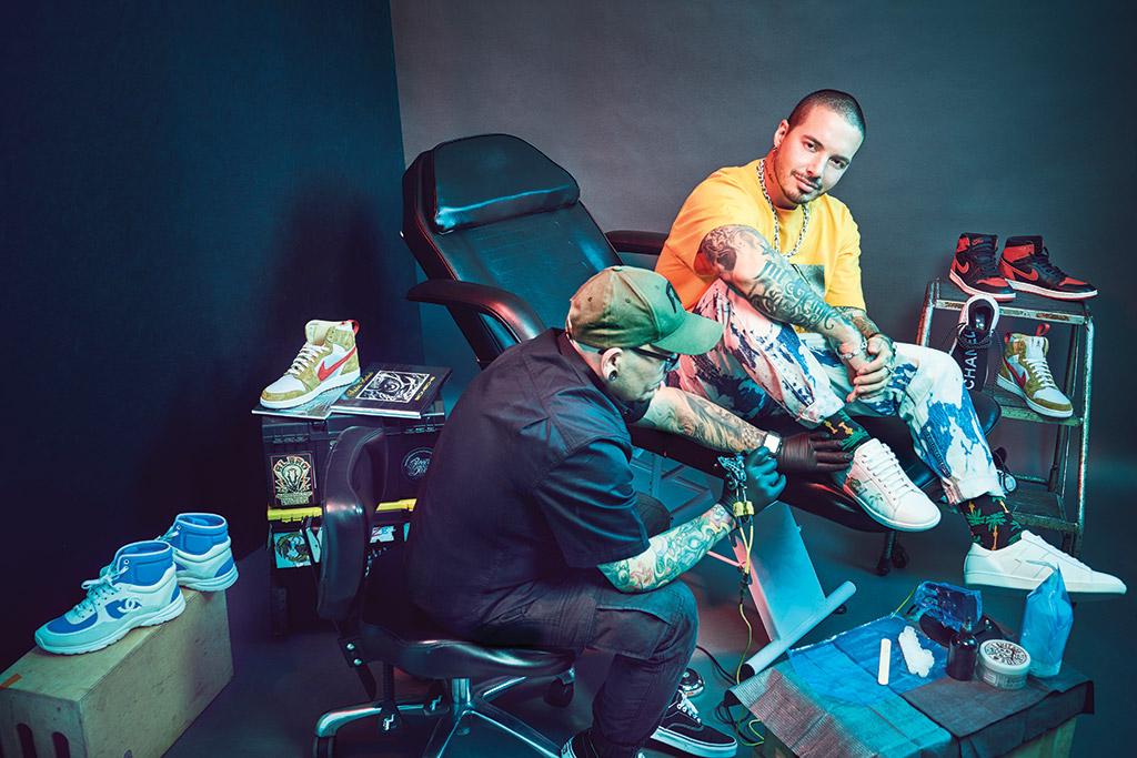J Balvin Mike Amiri tattoo Andres Hurtado