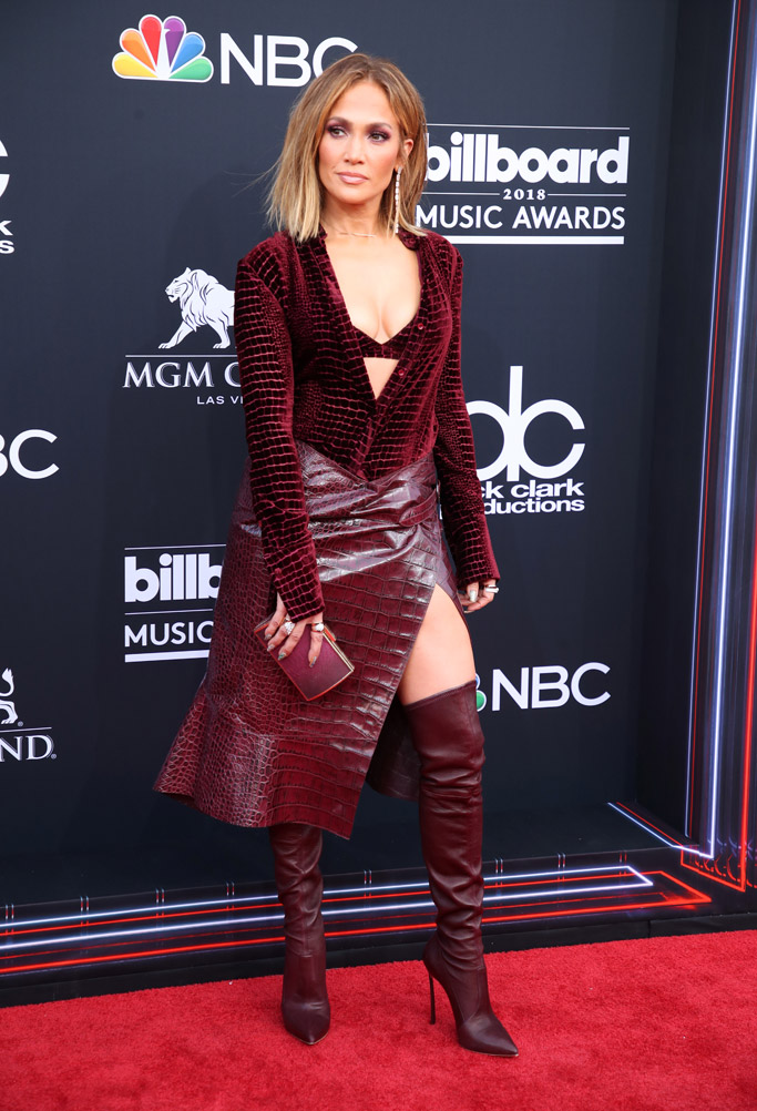 Jennifer Lopez, casadei boots, billboard music awards 2018, red carpet