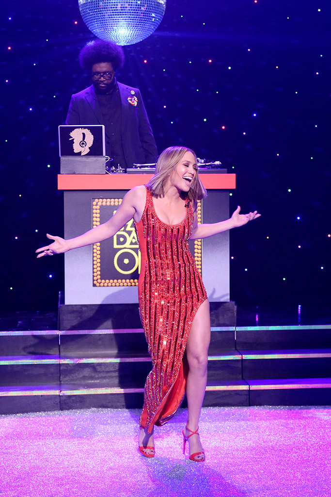 Jennifer Lopez Giuseppe Zanotti Jimmy Fallon