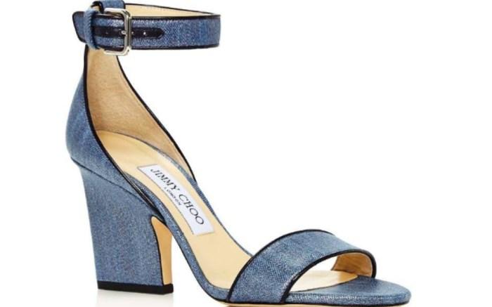 Edina 85 Metallic Denim High Heel Sandals