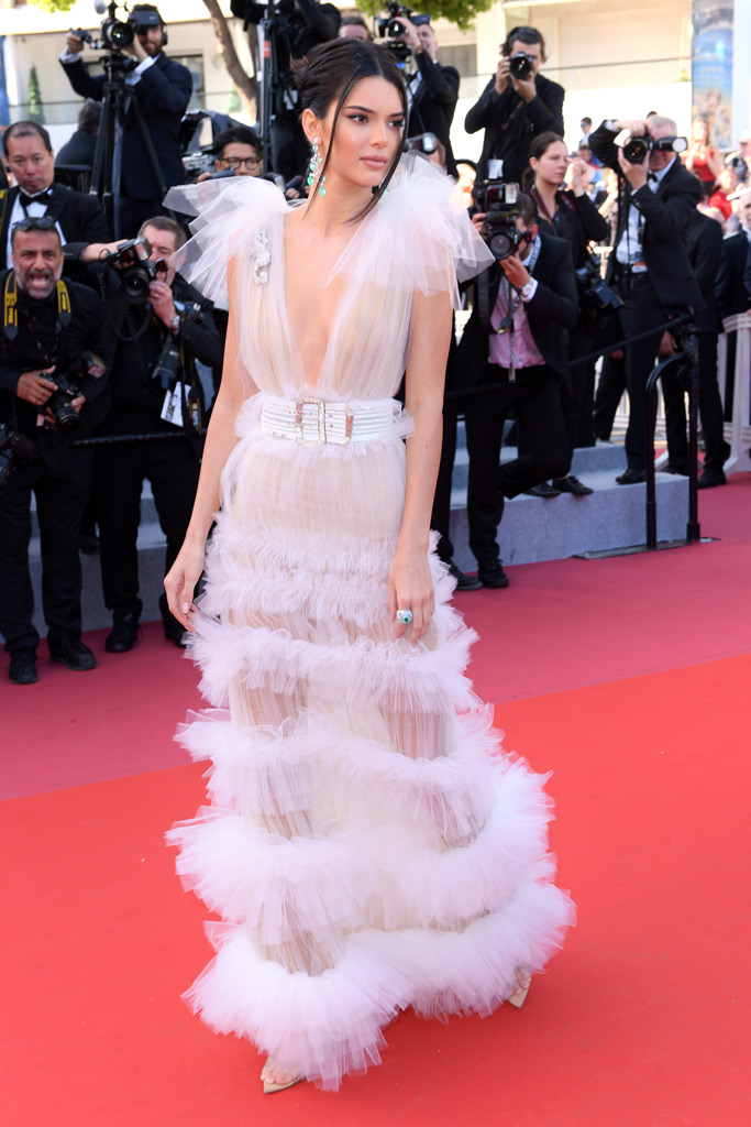 kendall jenner, naked dress, cannes film festival, red carpet, fashion, celebrity style