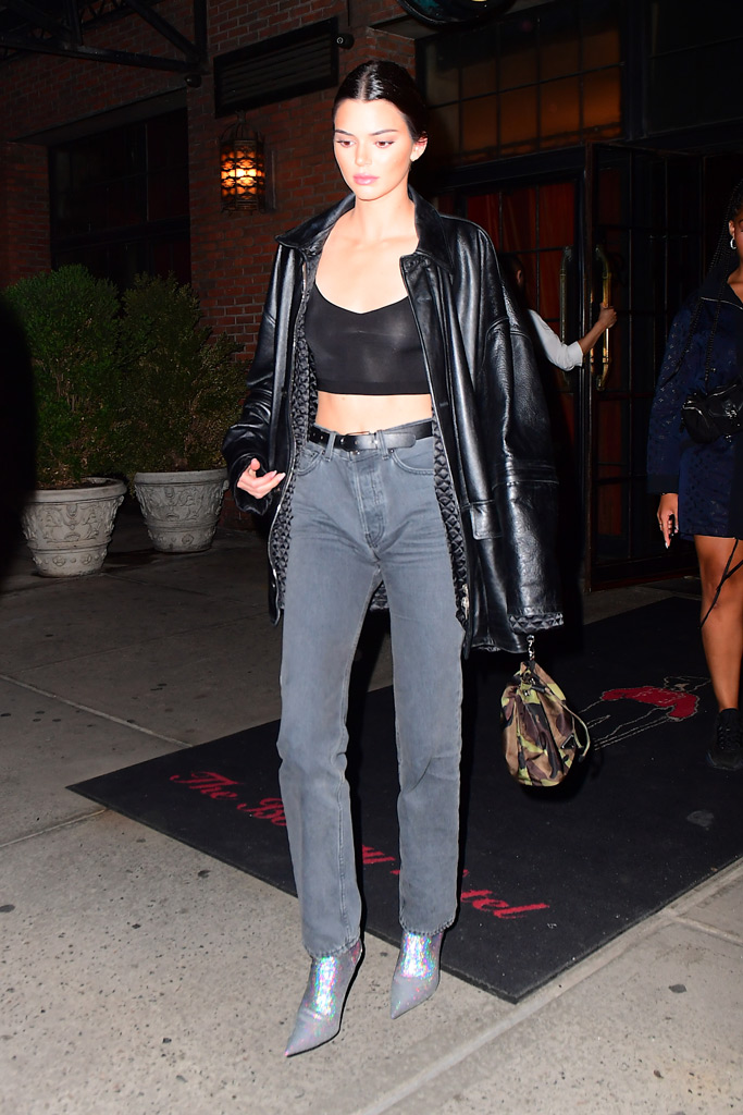 kendall jenner, balenciaga knife boots, yeezy, kylie jenner, new york