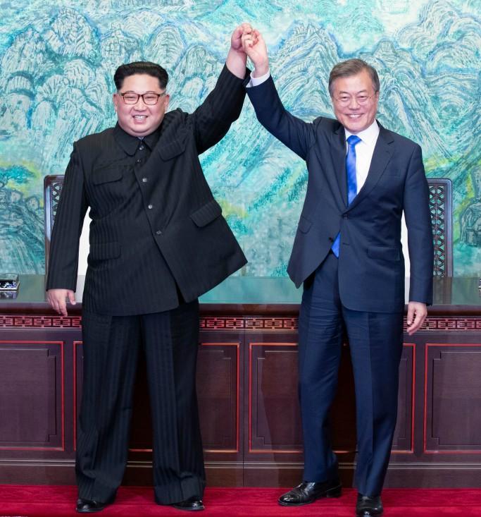south korean president moon jae-in, kim jong un