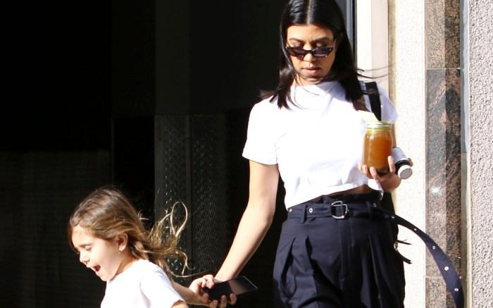 Kourtney Kardashian with daughter Penelope Disick