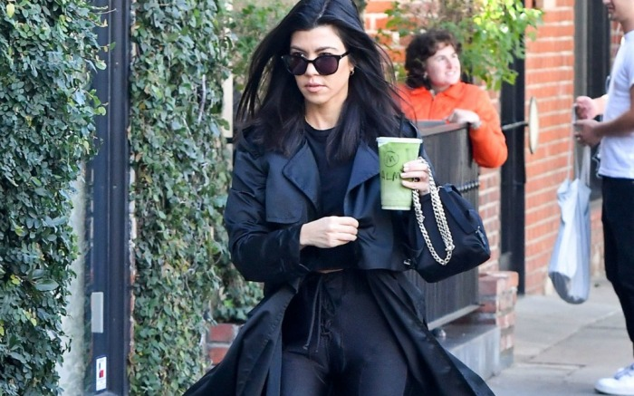 Kourtney Kardashian out and about grabbing a drink in L.A.