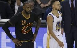 LeBron James Stephen Curry 2017 NBA
