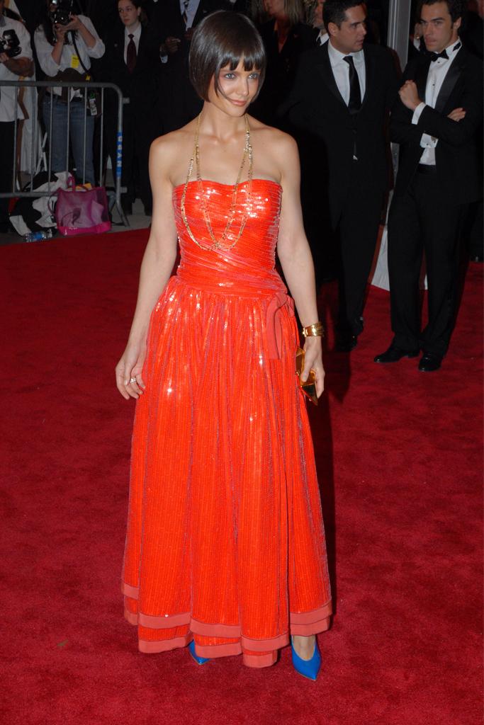 2008 Met Gala, katie holmes, red carpet, celebrity style, fashion