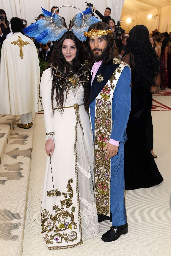lana del rey, jared leto, met gala, 2018, celebrity style, gucci, red carpet
