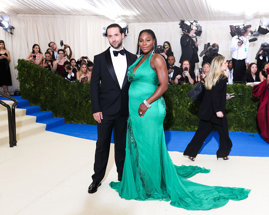 met gala, 2017, serena williams, alexis ohanian