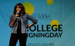 Michelle Obama, college signing day 2018,