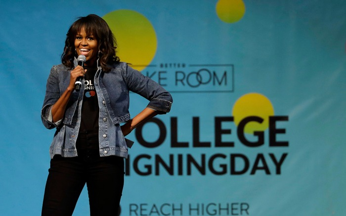 Michelle Obama, college signing day 2018, philadelphia