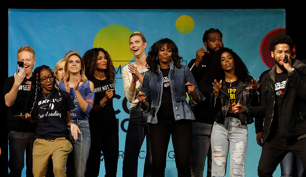 Michelle Obama, college signing day 2018, philadelphia, kelly rowland, karlie loss, ciara