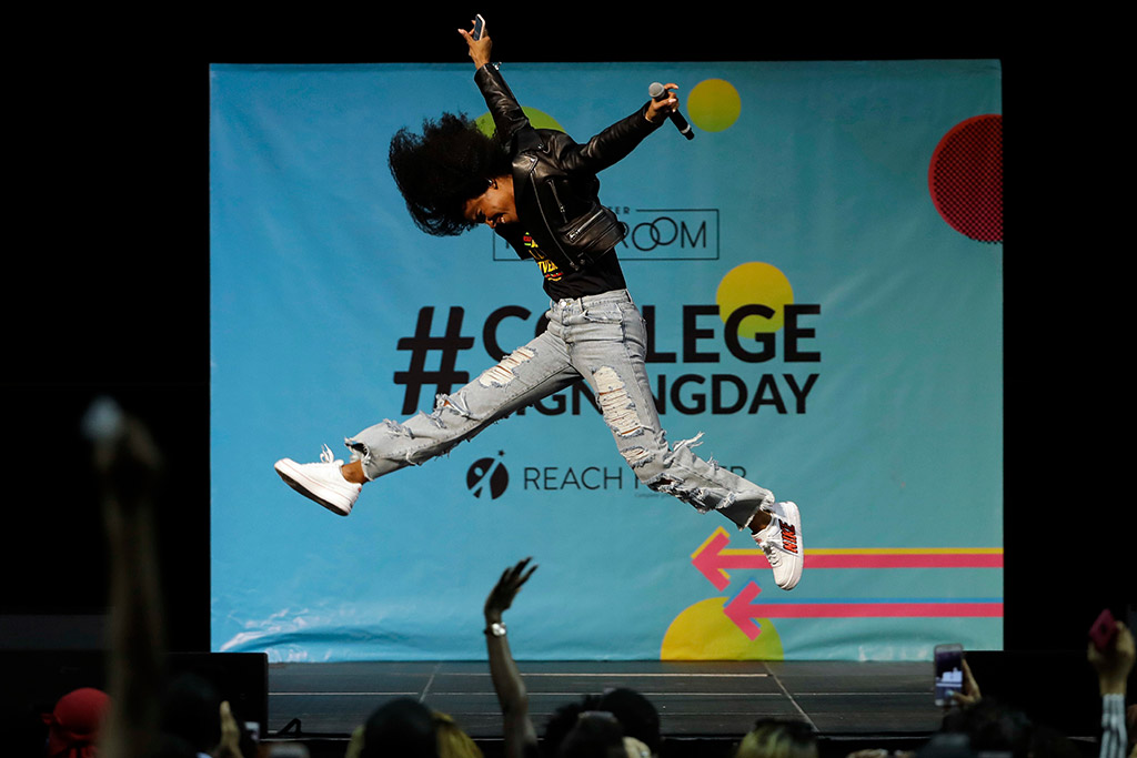 Michelle Obama, college signing day 2018, philadelphia, kelly rowland