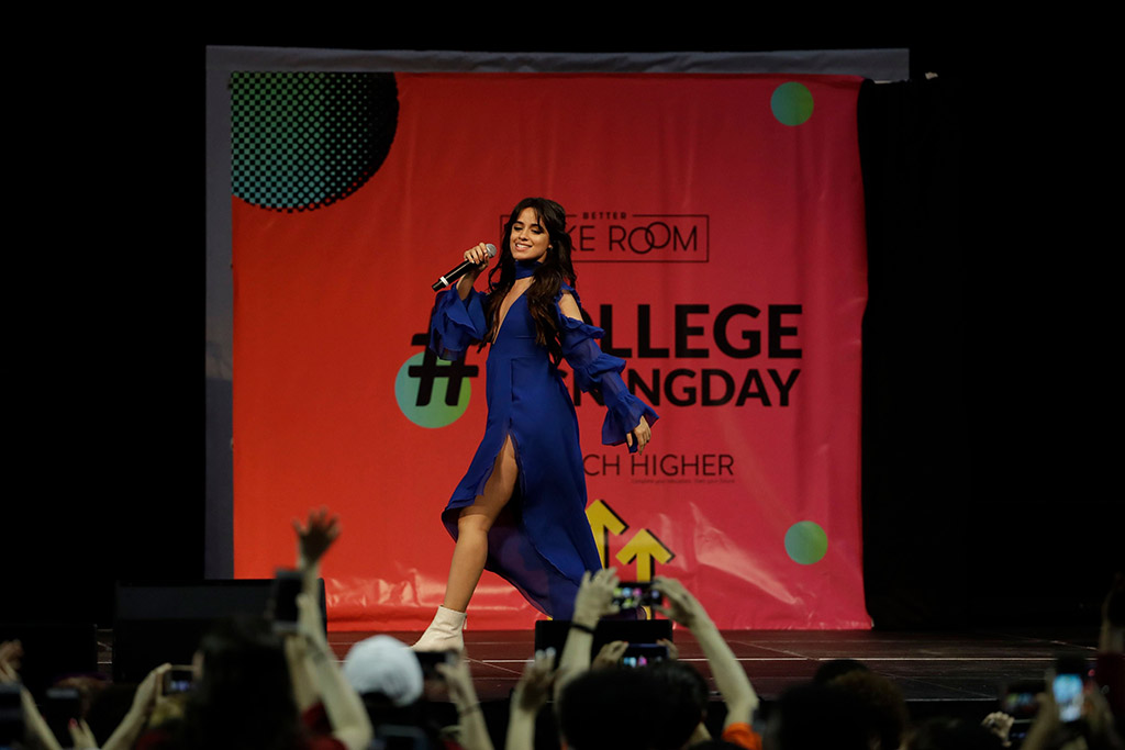 camilla cabello, Michelle Obama, college signing day 2018, philadelphia