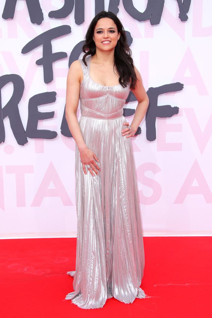 michelle rodriguez, silver dress, cannes film festival, red carpet