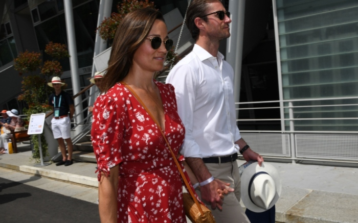 Pippa Middleton and James Matthews at the French Open on Sunday