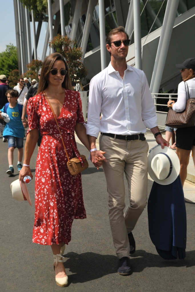 Pippa Middleton with James Matthews at the French Open, polo ralph lauren