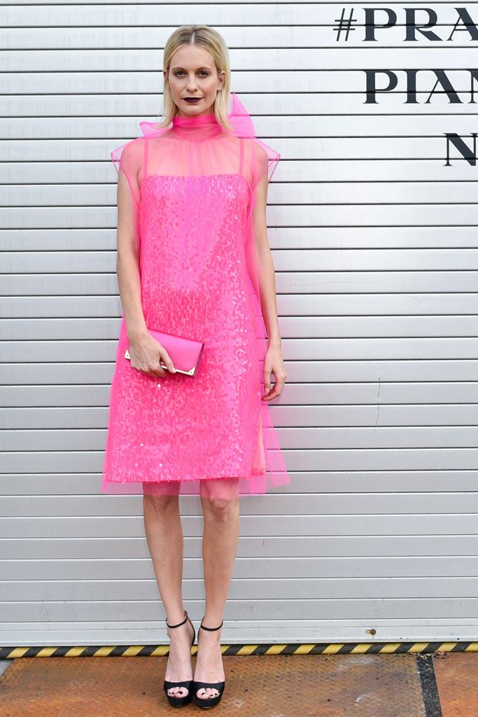 Poppy Delevingne, prada front row celebrity style
