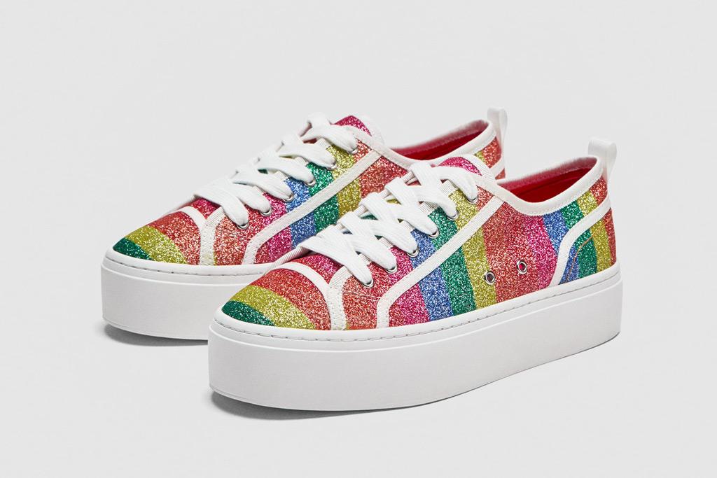 Zara Shiny Multicolored Sneakers