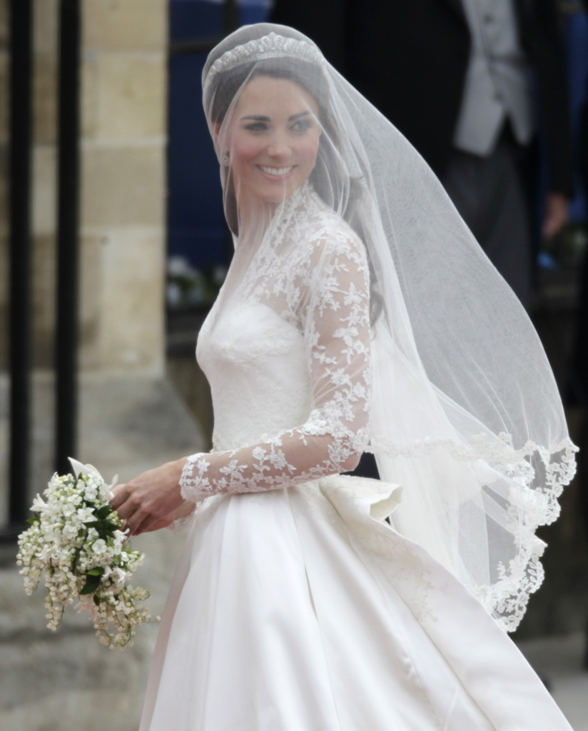 Kate Middleton arrives at Westminster Abbey at the Royal Wedding in LondonBritain Royal Wedding