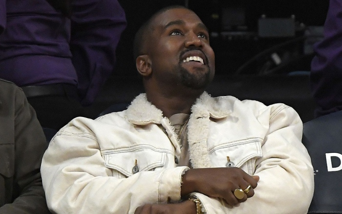 Rapper Kanye West watches during the second half of an NBA basketball game between the Los Angeles Lakers and the Memphis Grizzlies, in Los AngelesGrizzlies Lakers Basketball, Los Angeles, USA - 05 Nov 2017
