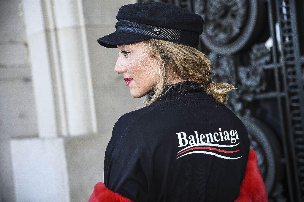 balenciaga street style paris fashion week 2018