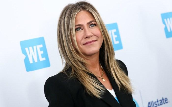 Jennifer Aniston sports black blazer at L.A.'s WE Day California.