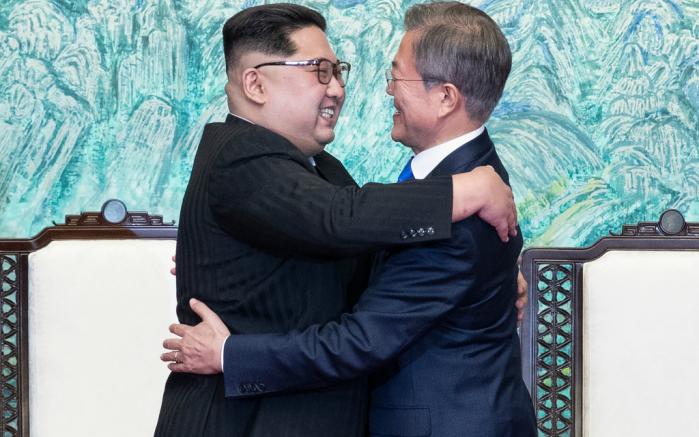 kim jong un, south korean president moon jae-in