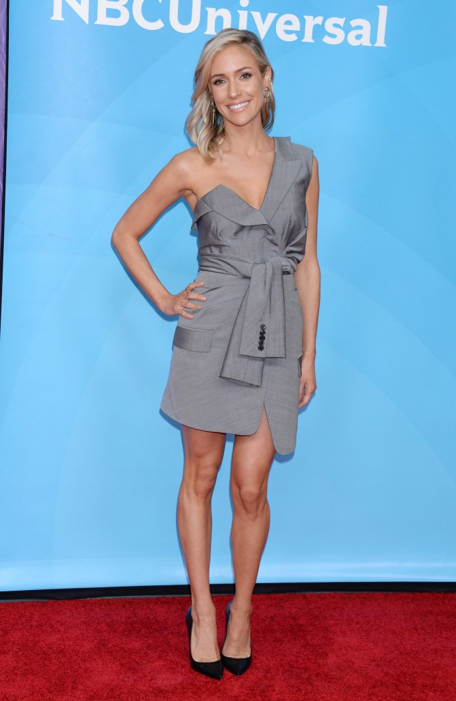 Kristin Cavallari wears Alexander Wang blazer dress on the red carpet.
