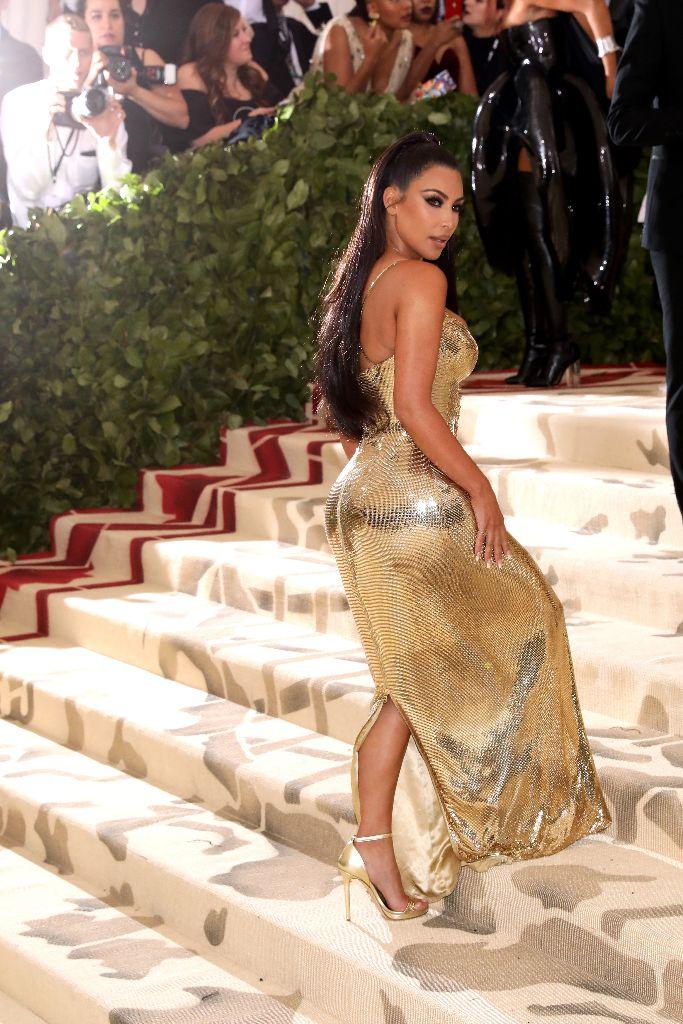 kim kardashian, versace, met gala 2018