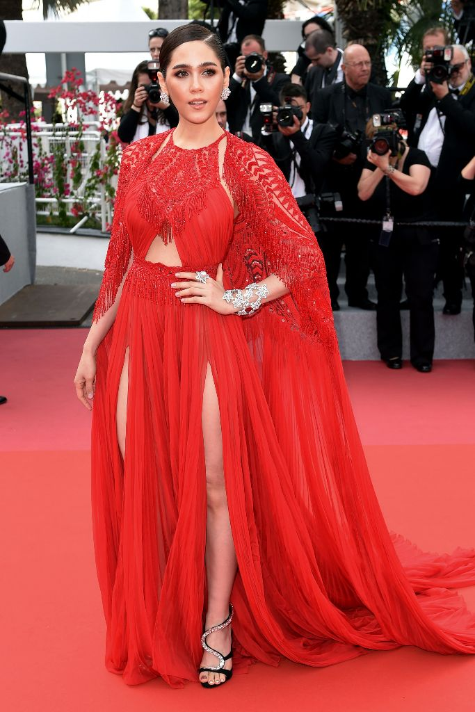 Araya Hargate, 2018 cannes film festival opening ceremony red carpet