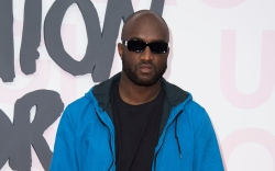 Virgil Abloh poses for photographers upon